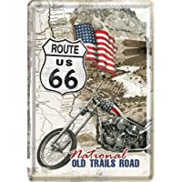 Nostalgic-Art 10117 US Highways - Route 66 Old Trails Road, Blechpostkarte 10x14 cm