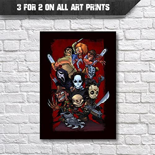 Horror movie character classic movies poster wall art for Buy art posters online