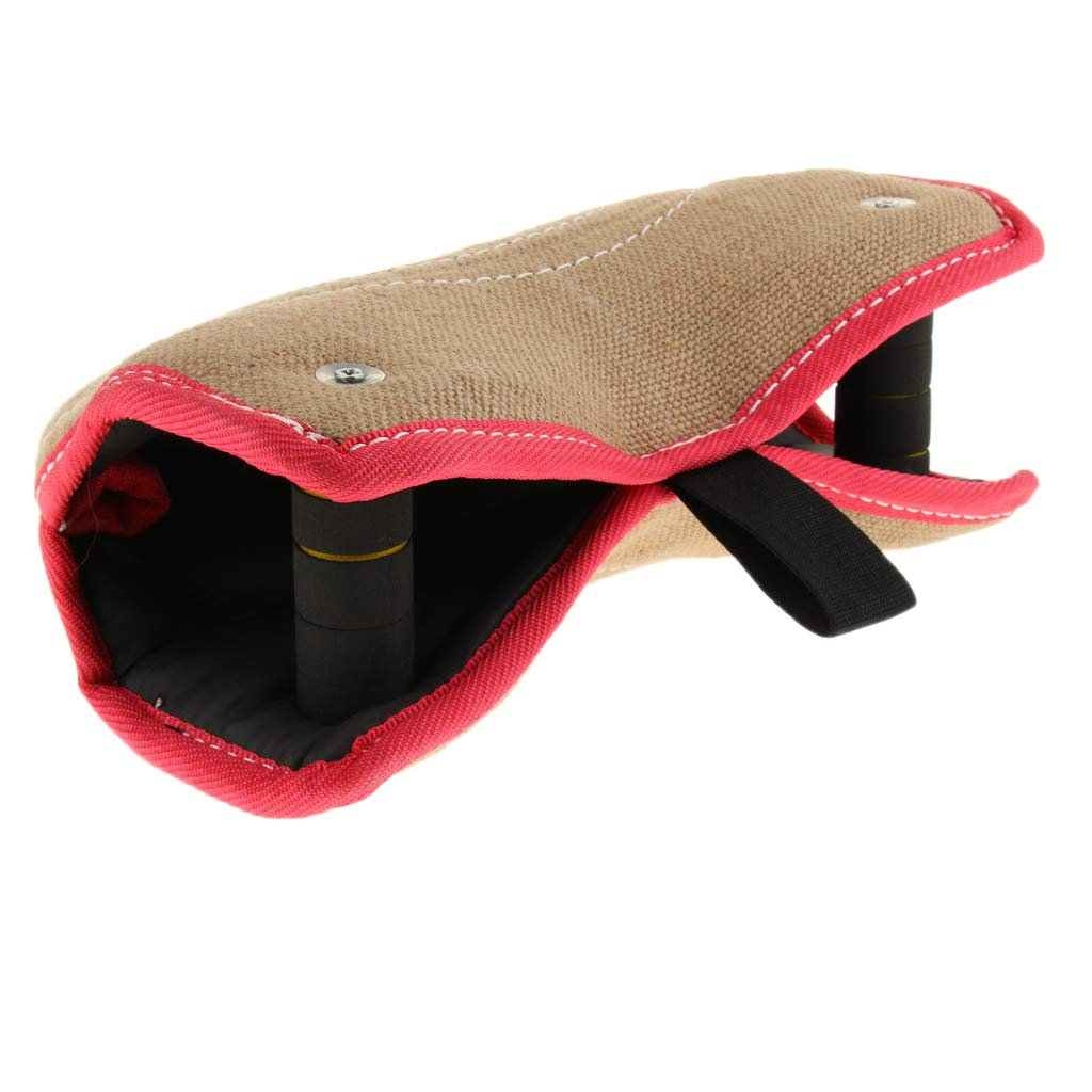 SM SunniMix 2 Handle Targeting Jute Bite Wedge Tug Toy Dogs Bite Sleeve Arm Protection for Dogs Work Dog Puppy Training Playing