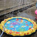 Facethoroughly Wasserspray Sprinkle und Splash Spielmatte, Sommer Spielzeug für Outdoor-Familienaktivitäten Wasserspielzeug für Kinder Hund Katze Haustiere Familienaktivitäten