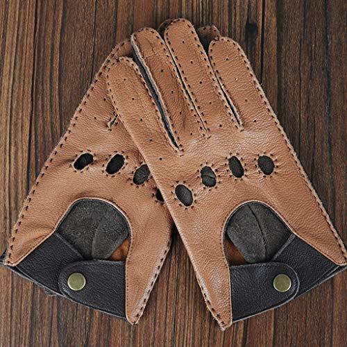 SGLI Motorrad Fahrrad Schnalle Handschuhe Leder motorradhandschuhe männer Fahrer Klassische hellbraune dunkelbraune Handschuhe 手套 - Spurs-motorrad-handschuhe