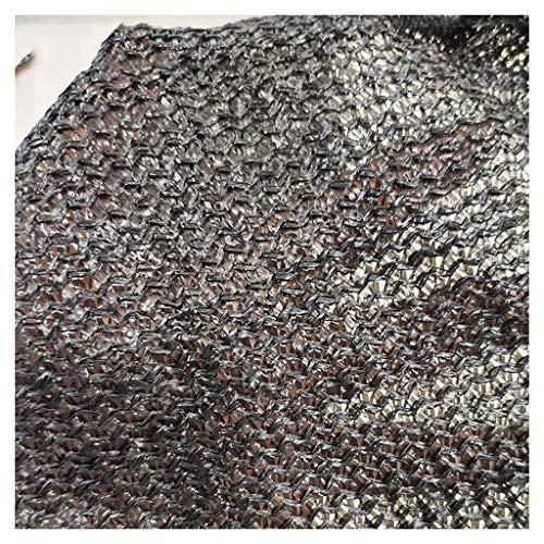Lixin Filet d'ombrage épaississant extérieur pour parasol en polyéthylène haute densité (Couleur : NOIR, taille : 12M×50M)
