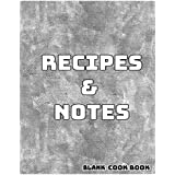 Blank Cookbook Recipes & Notes: cookbooks, watercolor notebook, notebooks