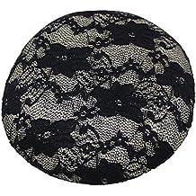 Casquillo Flor de Sinamay Sombrero Base Platillo para Fascinators Craft Uso Cordón - Negro