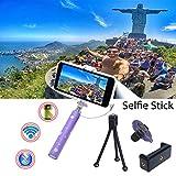COOLNUT CNCombo-3 Selfie Stick, Extendab...