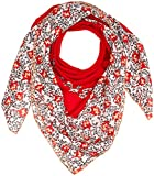 Tommy Hilfiger Damen Schal TJW FLORAL Square, Rot (Red Mix 902), One Size
