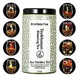 Thé Floraison, 8ps Artistique Fleur de thé, Boule à thé de Fleur Chinoise, 8 thés Fleuris Thé Blanc, 8PCS Fleur Boule à thé Vert Blooming, Artistique Fleur de Thé