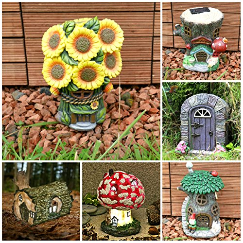 Awesome Garden Mile Solar Light Up Fairy House Outdoor