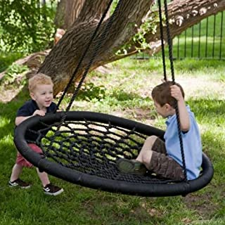 100 cm Diameter, 2 Person Giant Kids Outdoor Nest Disc Swing Tree Spider Net Mesh Play Fun Toy