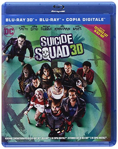 suicide squad 3d (2 blu-ray) (extended cut) [Italia] [Blu-ray]