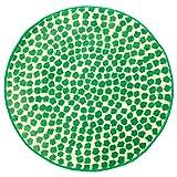 IKEA ASIA Flong Teppich Hochflor weiß grün