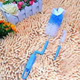 "Set of ""HOKIPO"" Brand Baby Feeding Bottles Rotary Cleaning Brush + Small Nipples Cleaning Brush (Random Color)"