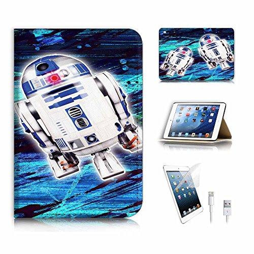 (für iPad Mini 123, Generation 1/2/3) Flip Wallet Schutzhülle & Displayschutzfolie & Ladekabel Bundle. a6431BB8Krieg der Sterne