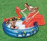 Bestway Planschbecken Aufblasbar 196 x 170 cm Wikinger Pool mit Rutsche Wasserrutsche Schwimmbecken für Garten