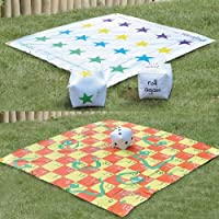 Parkland® 2 In 1 Giant Snakes and Ladders / Tangled Twister Outdoor Garden Game