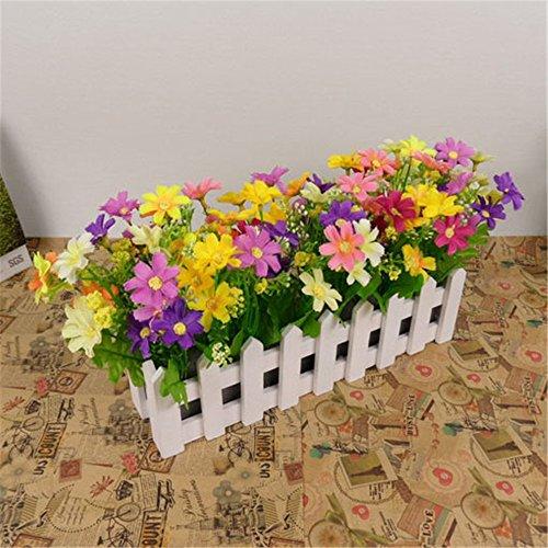 NOHOPE 30cm staccionata in legno di emulazione tuta di Fiori Fiori artificiali Fiori di Seta fiori di plastica Soggiorno decorazione con ornamenti floreali - Delphinium Vaso