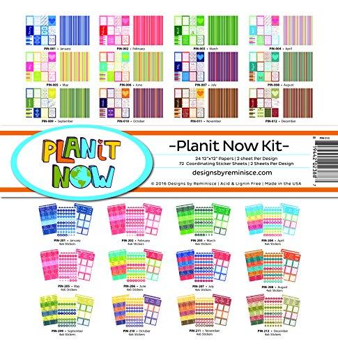 Erinnerung Planit jetzt all inclusive Scrapbook Planer Kit (Kalender-buch Monatlich)