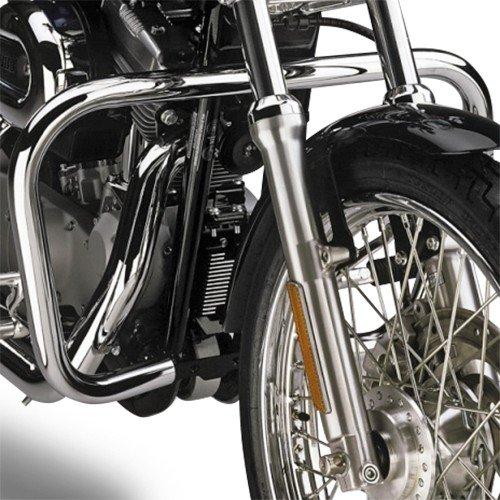 Sturz-Bügel Fehling Harley Davidson Sportster 1200 Custom (XL 1200 C) 04-18 silber C-rahmen-motor