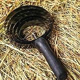 Striscia a 6 Strati per Cavalli - Striscia in Metallo con Manico in Legno per la Pulizia dello Sporco Grossolano - Striscia a Spirale Ideale per Cambiare Pelo, epilazione