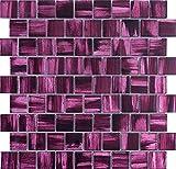 Glasfliesen Mosaik Badezimmer und Küche mv-drio-violet
