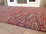 Second Nature Hand bevorstand Baumwolle Garn Indien Teppich in Multi Farben 90cm x 150cm