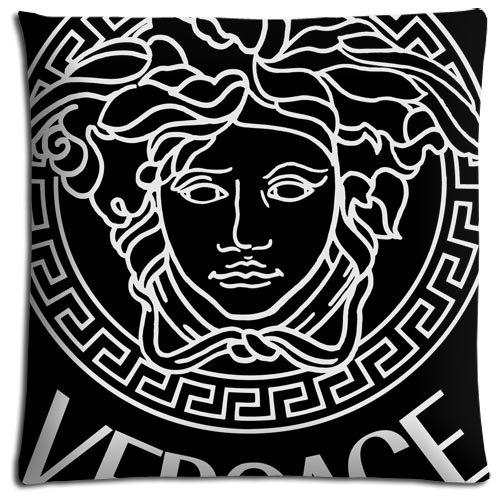 Matthew Lacey Taie d'oreiller avec fermeture éclair confort, versace, polyester, housse de coussin pour la maison en coton, respectueux de l'environnement, 40x 40cm