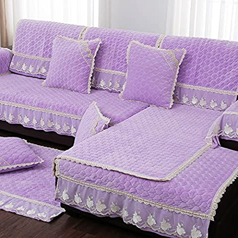 New day-rivestimenti divano antiscivolo peluche moda europee doppio pizzo , a , 70*150cm