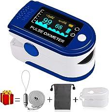 Pulsoximeter, MrLi Fingeroximeter SauerstoffsättigungMessgerät Messen Blue Pulsoxymeterfür die Messung des Puls und der Oximeter am Finger