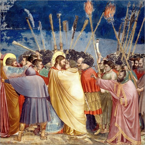 Posterlounge Bild Die Gefangennahme Christi – Giotto di Bondone/akg-Images