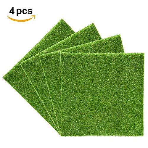 Yosoo Artificiale Erba mat Plastic Prato Grass Indoor Outdoor Verde Prato sintetiche Micro Paesaggio Ornament Home Decoration