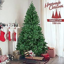 Bakaji Marilleva, albero di Natale verde da 150, 180, 210, 240 e 270 cm