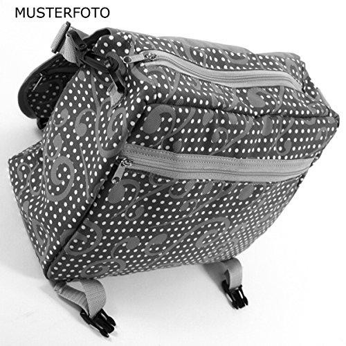 C-BAGS MERTIE MEADOW Gepäckträger Fahrradtasche verschiedene Muster black-grey