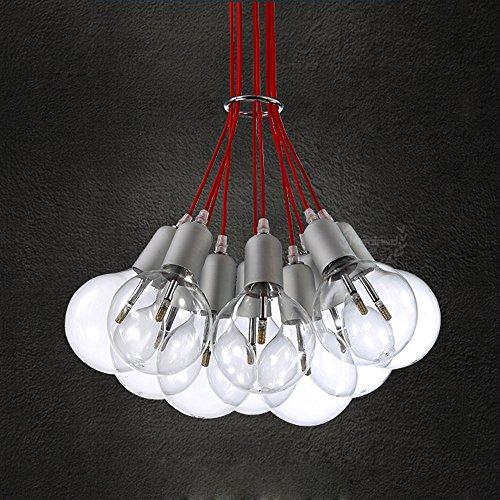 Moderne einfache LED Pendelleuchten Fashion Design Bubble Ball Pendelleuchte Metall Hand geblasenes Glas Pendelleuchten 10 Lichter G9 Schraube 20W Restaurant Schlafzimmer