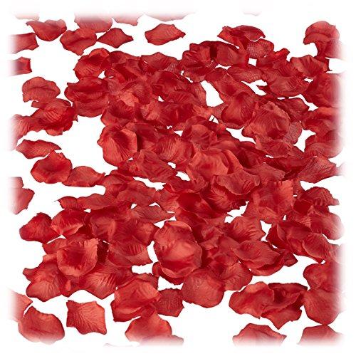 2500 x Rosenblätter Rot, Rosenblüten zum Streuen, Hpchzeitsdeko, Valentinstag, Hochzeitsgeschenk, dunkelrot