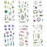 Blue Vessel 6pcs Scrapbooking Aufkleber Grünpflanzen Blätter Blumen Aufkleber Deco DIY Tagebuch Album Stick Label Scrapbooking Stickers