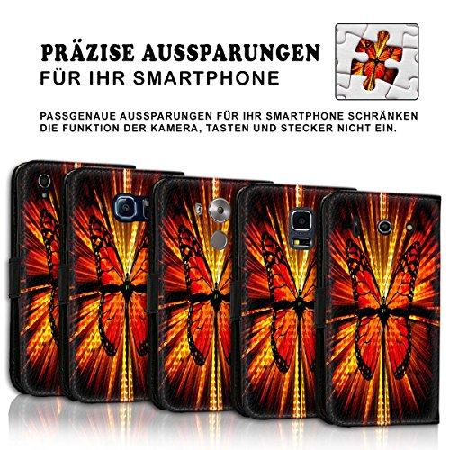 Wallet Book Style Flip Handy Tasche Case Schutz Hülle Schale Motiv Etui für Apple iPhone 6 / 6S - Variante UMV14 Design12 Design 5