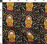 Russische Puppe, Muster, Matroschka, Ornament Stoffe -