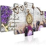 murando - Cuadro en Lienzo 200x100 cm - Reloj- Impresion en calidad fotografica - Cuadro en lienzo tejido-no tejido - Reloj f-A-0011-b-n