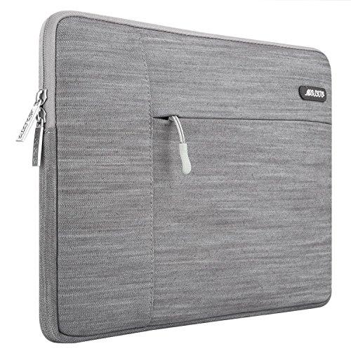 ärmel Pavilion Hp (MOSISO Laptophülle für 15-15,6 Zoll MacBook Pro, Notebook Computer, Neuer Stil Denim Gewebe Schutzhülle Sleeve Hülle Tasche Laptoptasche Notebooktasche, Grau)