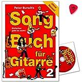 Peter Bursch's Songbuch für Gitarre 2 - Ohne Noten! - Die Songs sind in leicht singbare Tonarten transponiert und mit allen Griffen und Spieltechniken - Notenbuch mit CD und Dunlop PLEK
