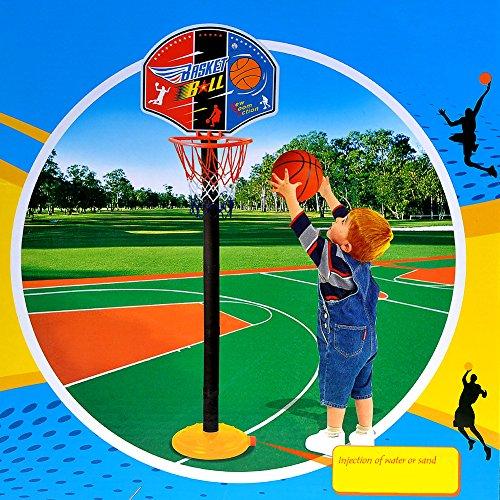 kingtoys® Pallacanestro Regolabile fai da te da Pallacanestro Portatile Canestro Basket Assemblare Basket Set For Kids