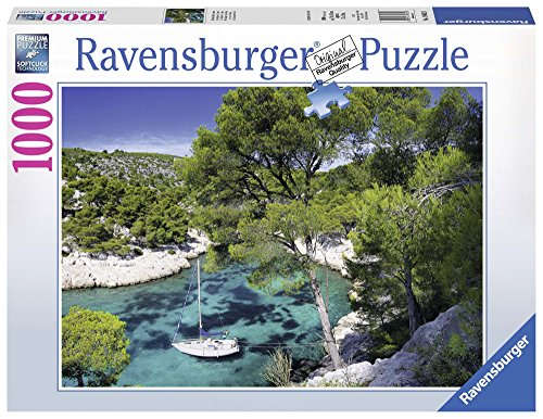 Ravensburger - French Beach, Puzzle of 1000 Pieces, 70 x 50 cm (196326)