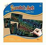 Mammut Scratch Art Tiere, je Circa 14, 5 x 20 cm