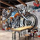 Qwerlp 3D Fototapete Personalisierung Motorrad Street Art Graffiti Wallpaper Cafe Ktv Bar Kinderzimmer Wandverkleidung Fresken-310Cmx230Cm