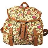 Owl Print Twin Pocket Backpack / Rucksack / School Bag