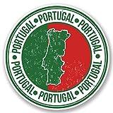 2 x 25cm/250 mm Portugal Autocollant de fenêtre en verre Voiture Van Locations #5168