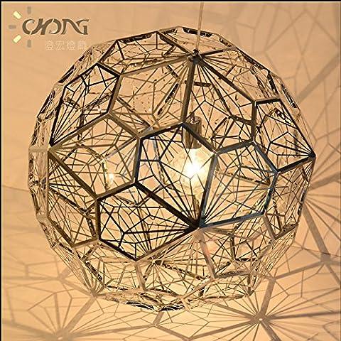 Ancernow E27 caldo creativo moda lampade a sospensione Lampadari Diamante poligono di metallo 50cm rose gold#12-2367