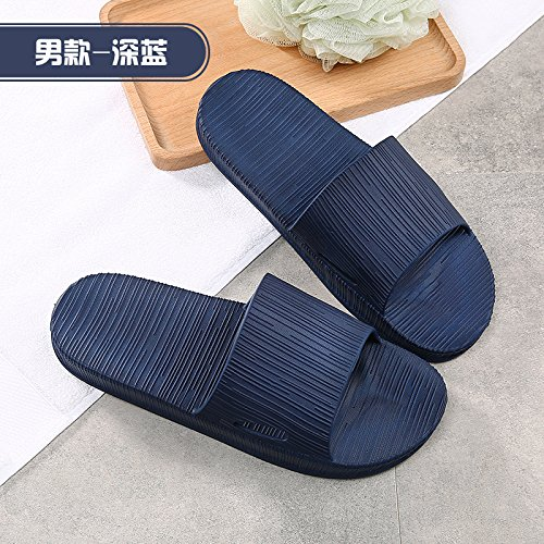 Baoziv587home outdoor pantofole in spugna estate uomini e donne da bagno per interni antiscivolo deodorante casa di spessore inferiore hotel hotel sandali e pantofole 42/43 navy blue