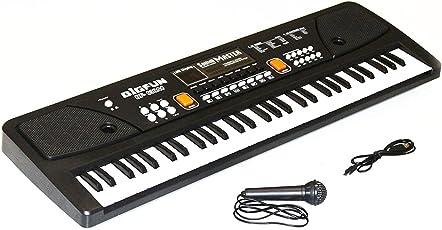 Amitasha 61 Keys Electronic Piano Keyboard (ON Sale Now) with LED Display & Microphone (Mobile Charger Power Option)
