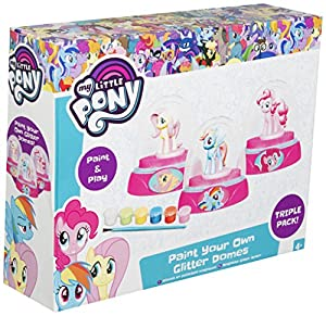 Sambro MLP4-4178 My Little Pony - Pack de 3 Cubos de Pintura con Purpurina, Multicolor